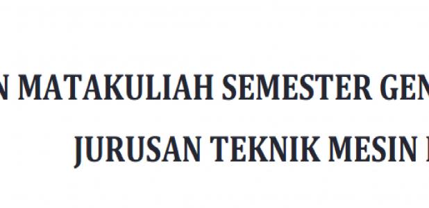 JADWAL MATAKULIAH SEMESTER GENAP 2018/2019