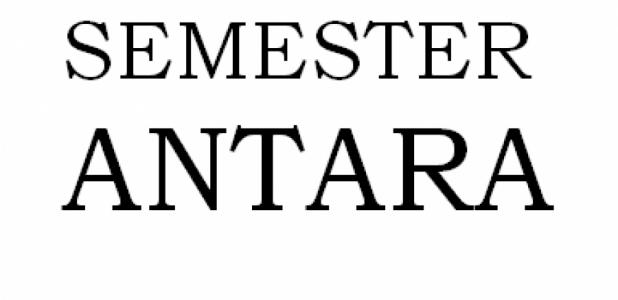 INFO TERBARU: SEMESTER ANTARA 2017/2018